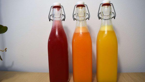 3 hjemmelavede juices Mad