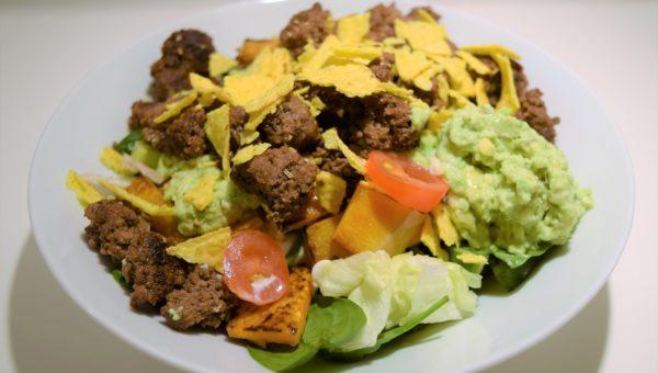 Mad som salat: taco-salat Mad