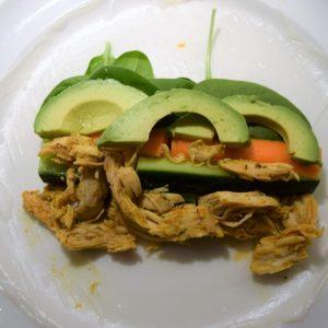 Nem og sund aftensmad: Rispapirsruller med kylling Mad